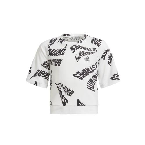 д/дамска тениска Move Cotton Branded All Over Print T-shirt